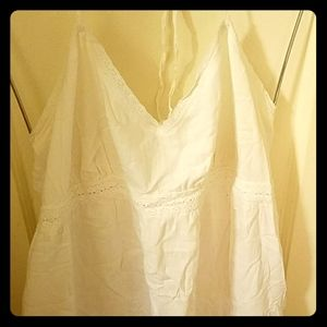 White Linen Dress sz. XL
